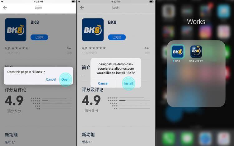 Tải ứng dụng BK8 trên IOS