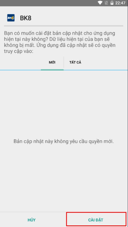 Cài đặt ứng dụng trên Android