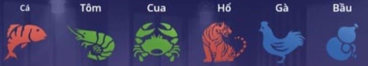 Biểu tượng Bầu Cua Thái BK8