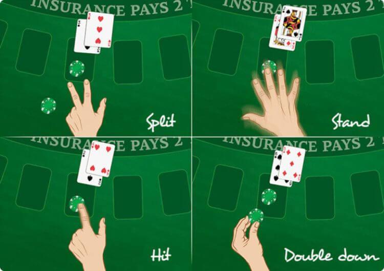 lệnh bài trong blackjack